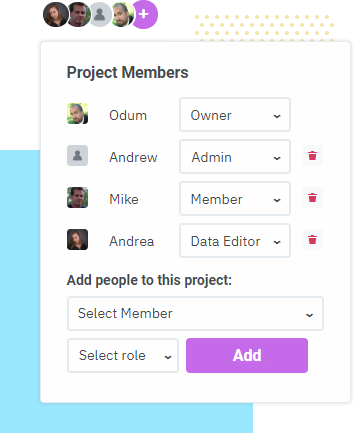 Add datashift members to project